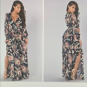 Fashion Nova Brunch Date Maxi Dress